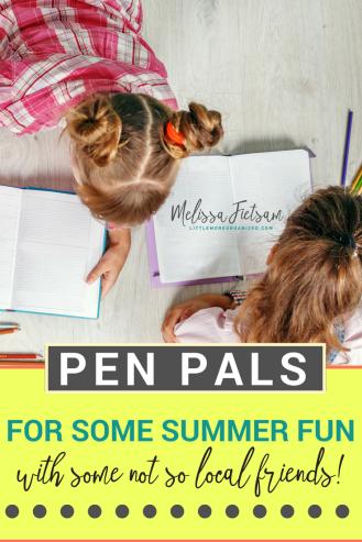 Summer Pen Pals for kids, summer activities for kids, things for kids to do in the summer