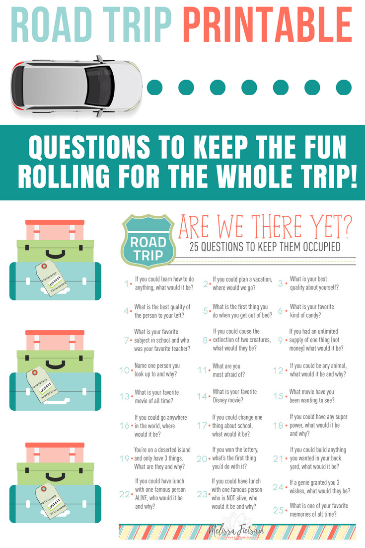 Fun questions to ask on a road trip