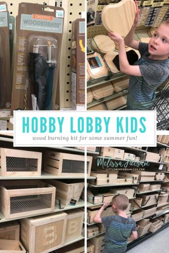 Hobby lobby kids crafts, wood burning kit