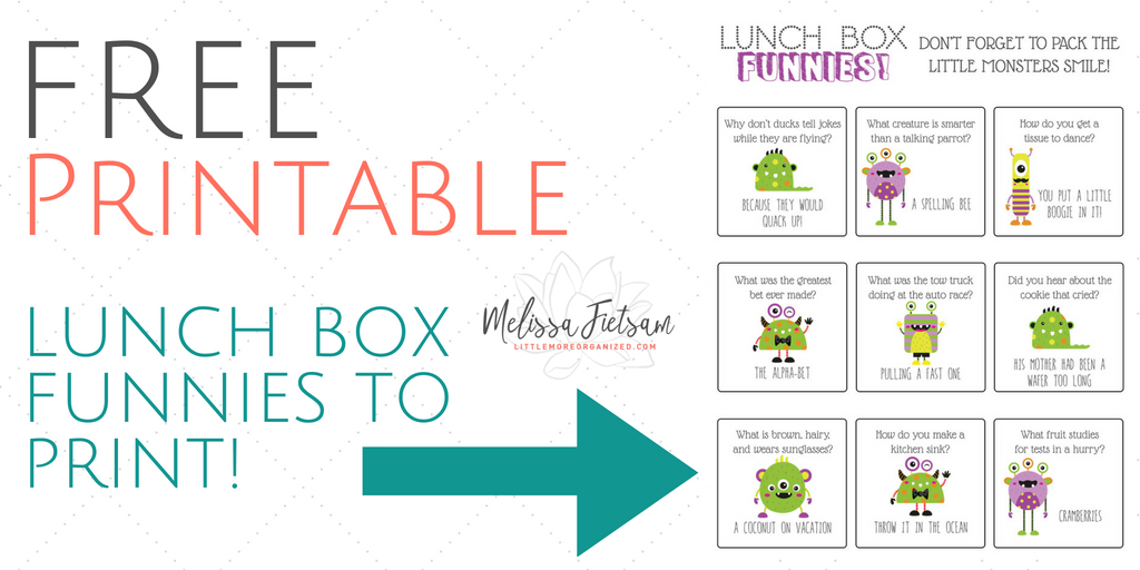 Lunch Box Jokes Printable – Life with kids #unfiltered